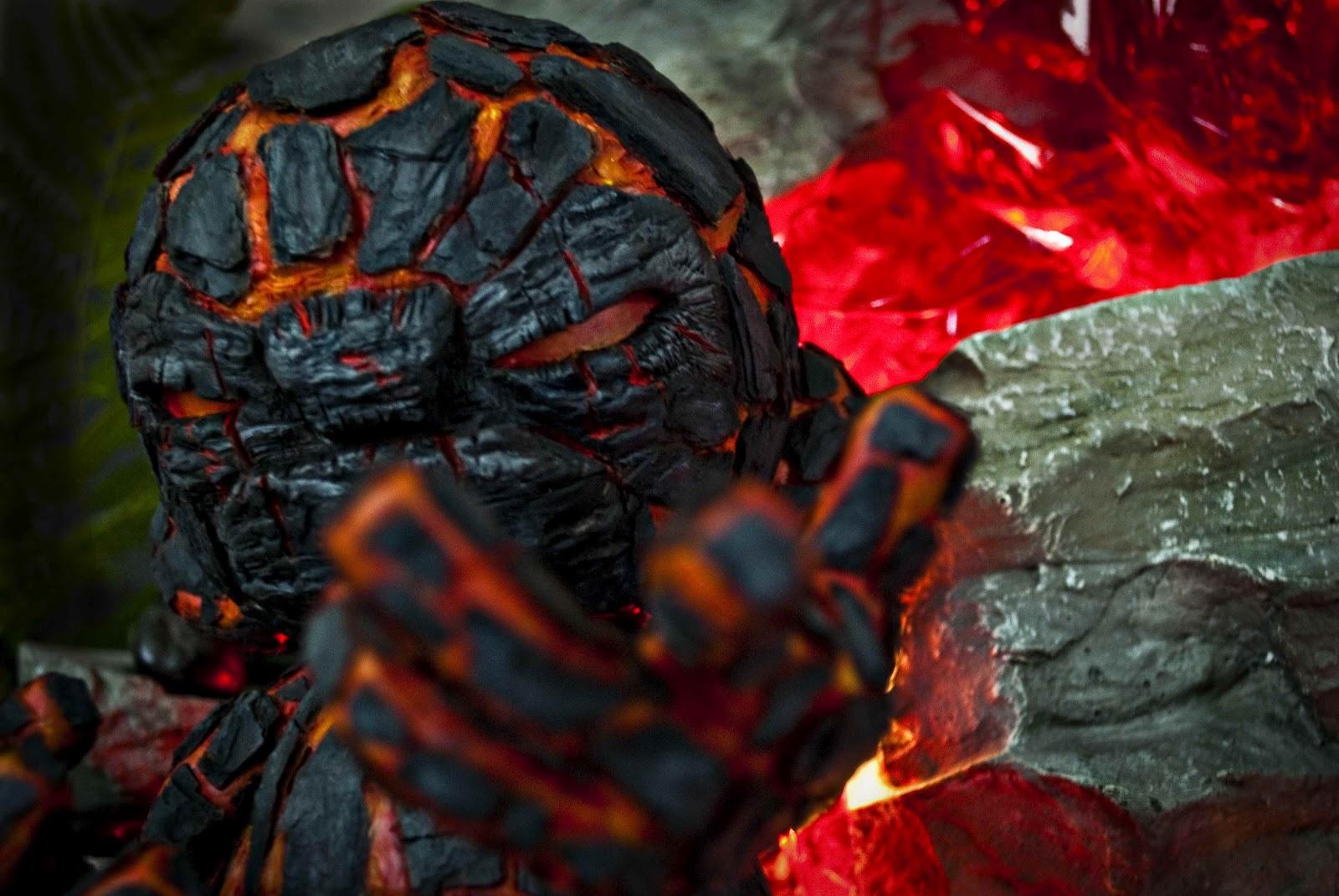 Grom The God Of Lava Munny Custom By Aretoo Deetoo
