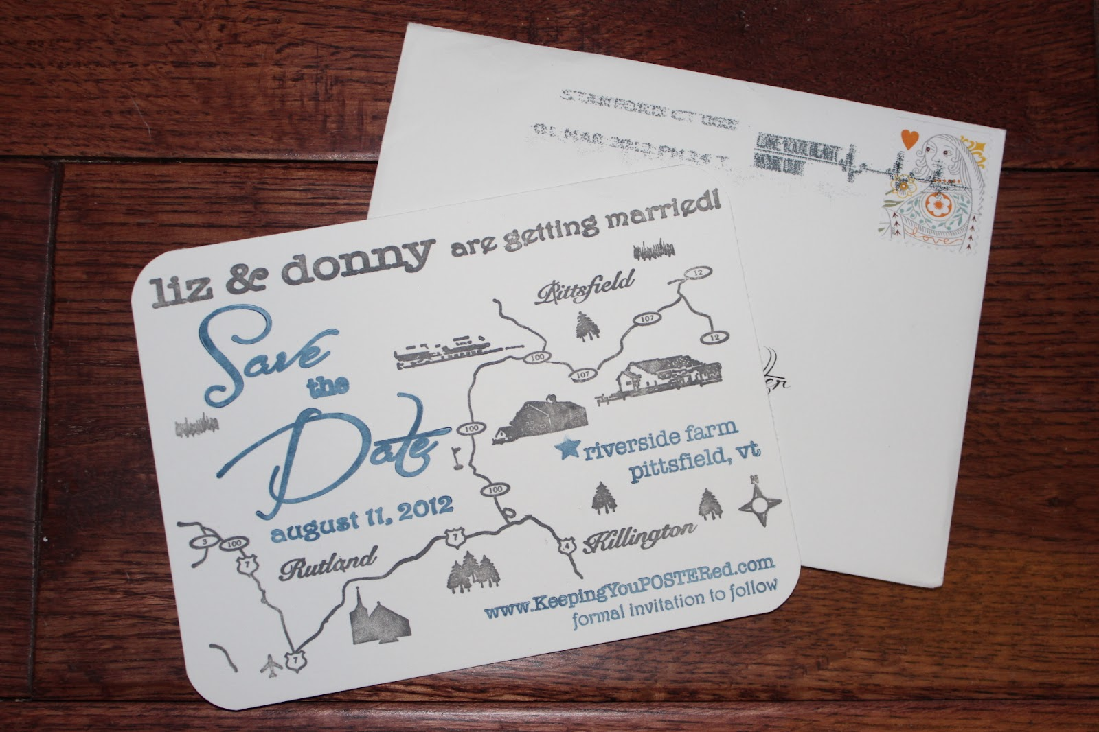 We Love These Save The Dates For Liz Donny S August 11th Country Wedding How Perfect
