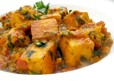Butter Paneer Masala (Cheese Cubes Smothered in a Spicy Tomato Gravy)