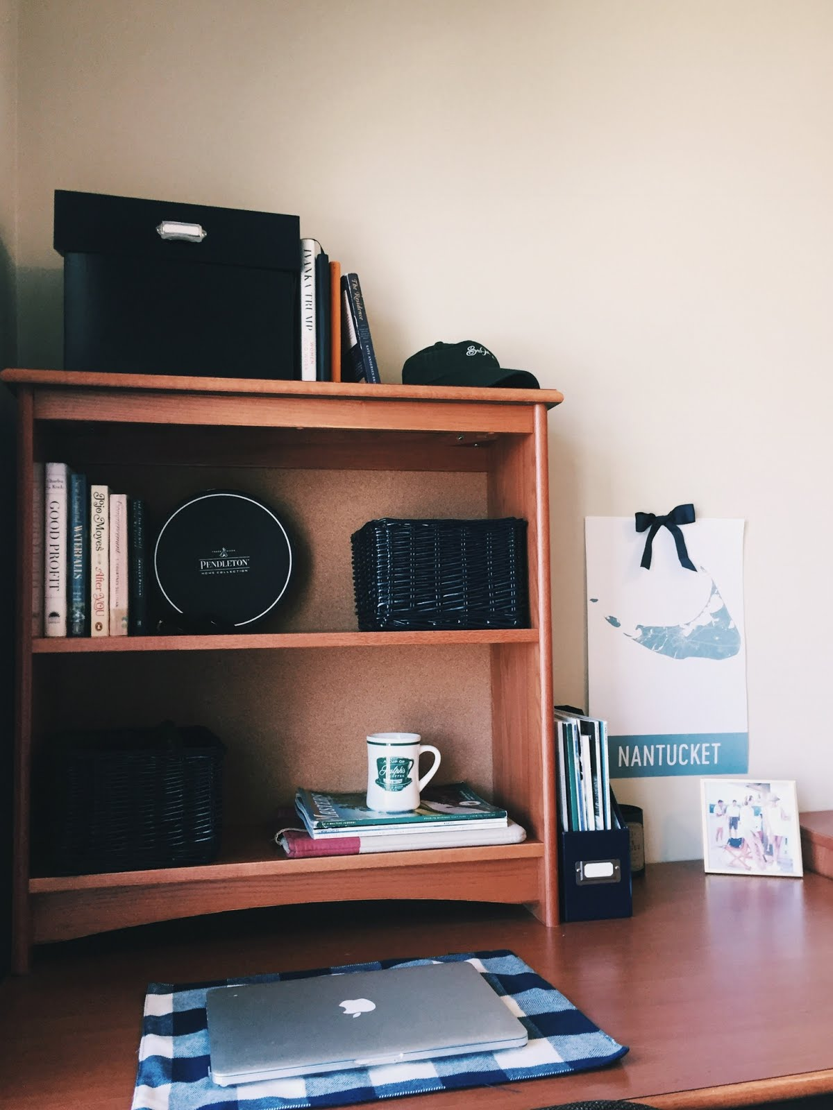 College Caffeinated Apartment Decorating Nantucket Map