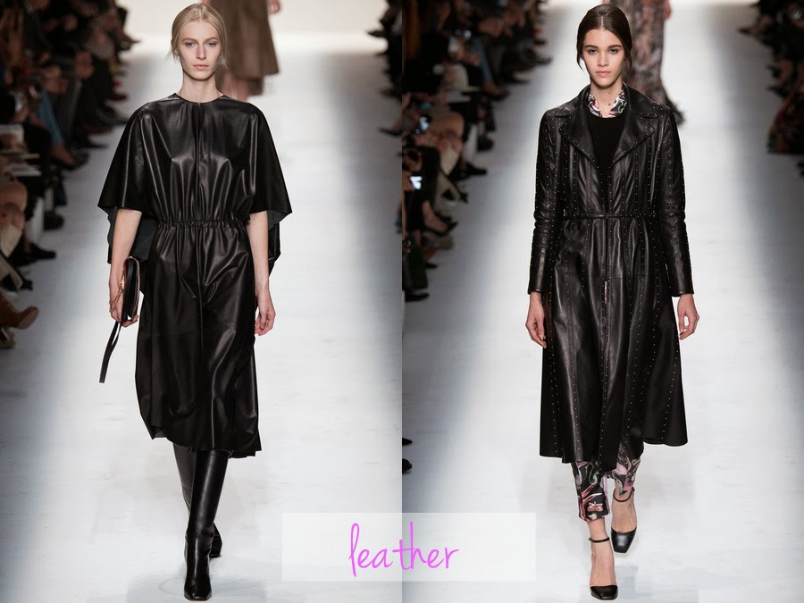 valentino, fall winter, fw, aw, autumn winter, rtw, ready to wear, 2014, designer, fashion blog, fashion review, collection, collection review, valentino fashion, womens fashion, leather, pleather, faux leather