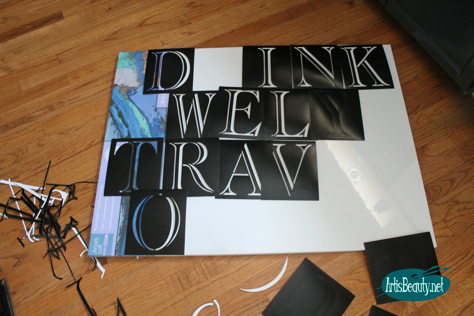 Drink Well Travel Often Word Art Large Scale Diy Canvas Art Boho Home Chic Decor