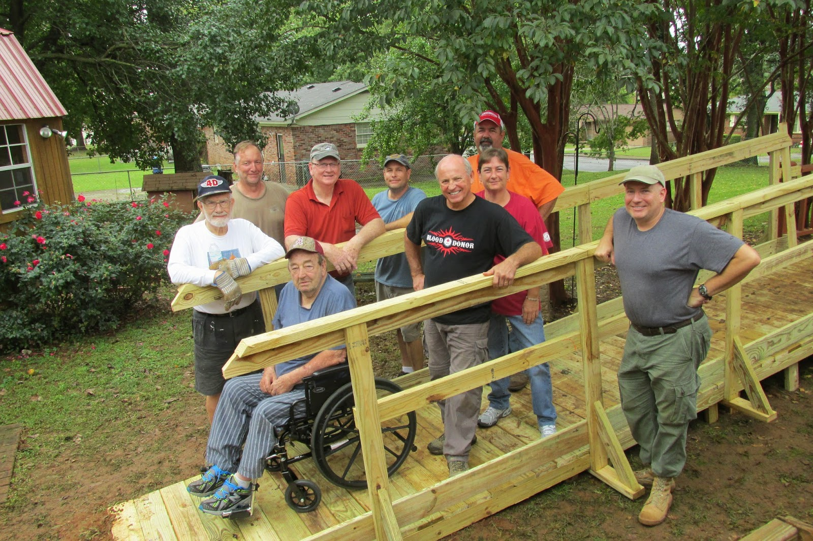Wheelchair Ramp Build, 11 Oct 2014