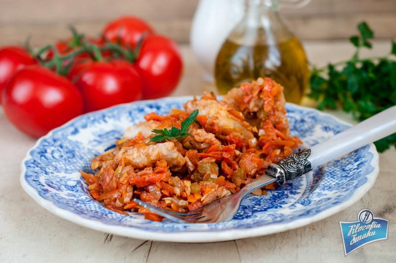 Przepis na rybę z warzywami