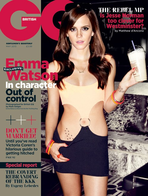 GQ Magazine May 2013 featuring Emma Watson