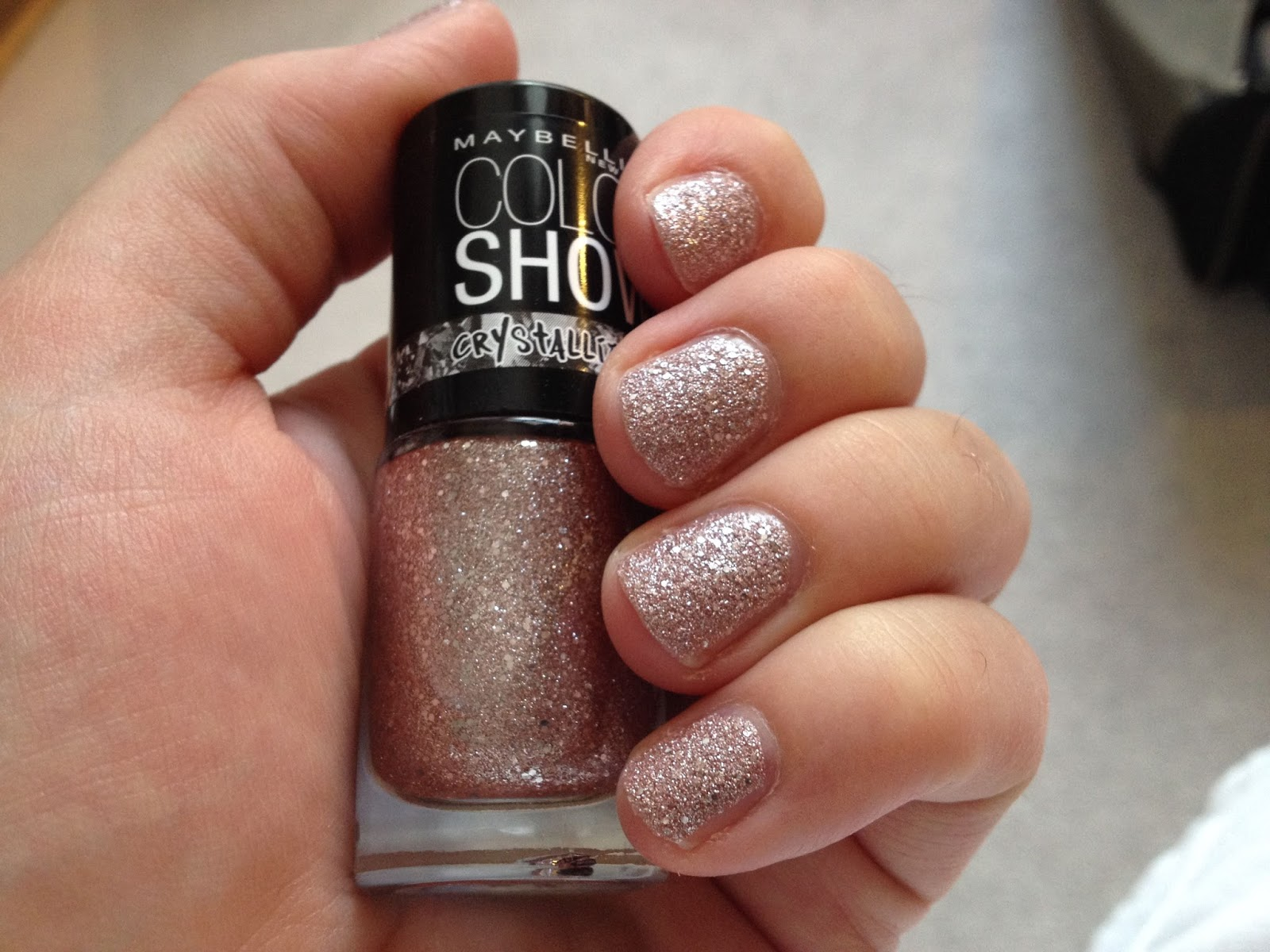 Maybelline Color Show Crystallise Rose Chic nail polish