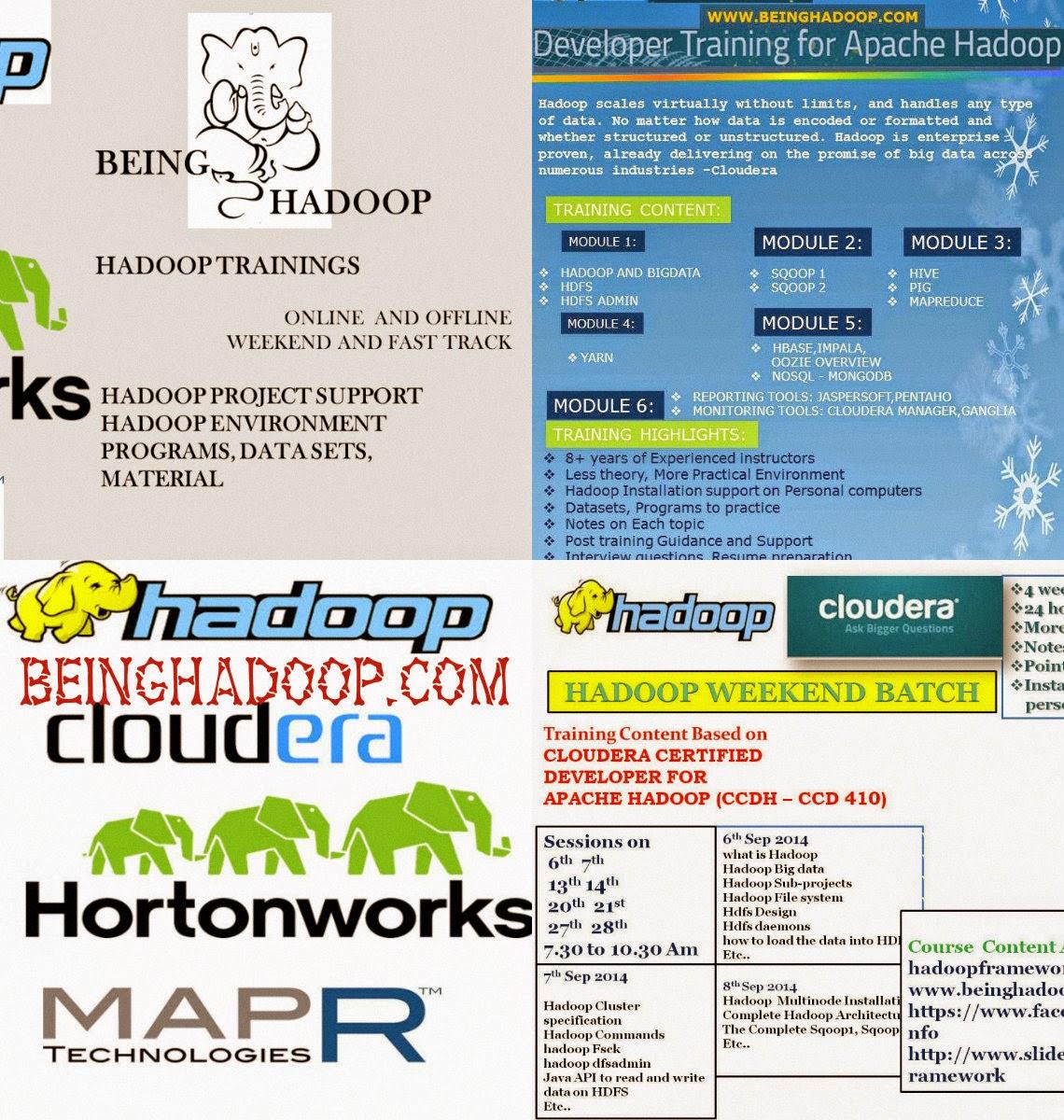 Hadoop Batches Hadoop Online Training