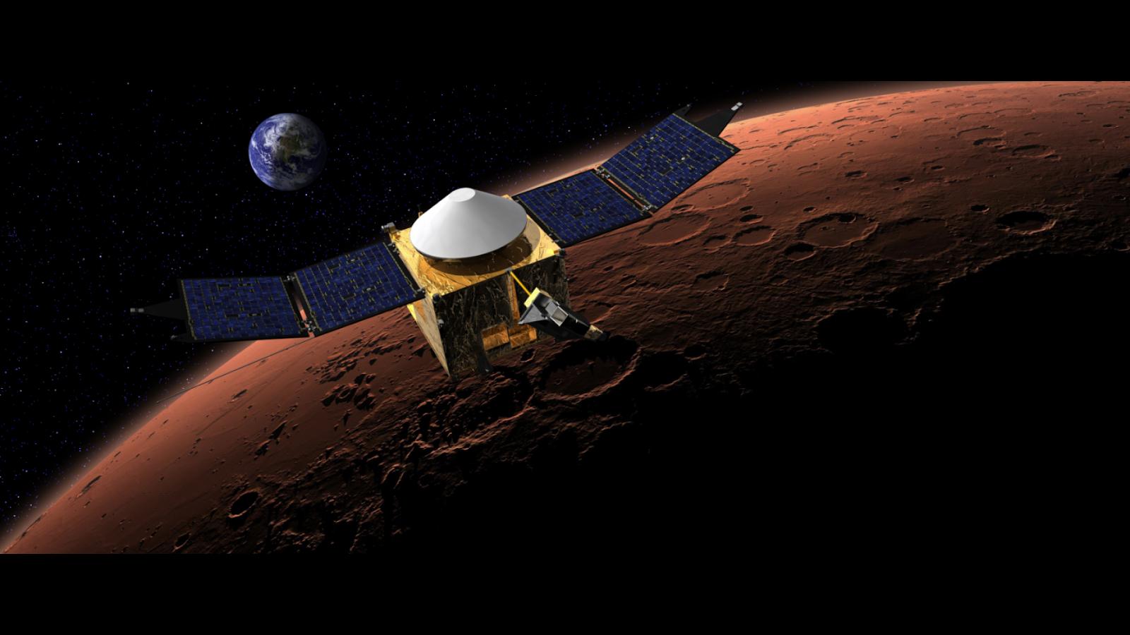 Nave espacial llega a Marte luego de 10 meses en el espacio