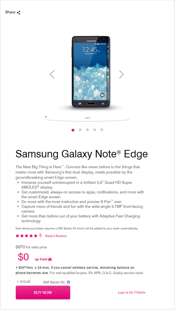 Samsung Galaxy Note Edge for T-Mobile