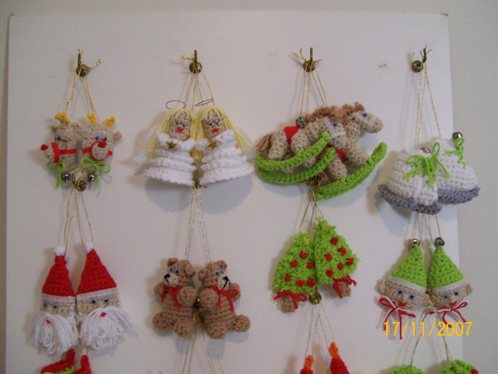 Crochet Simple y Delicado Adornos para Navidad