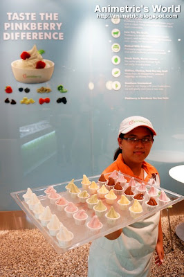Pinkberry samplers at the Greenbelt 5 store