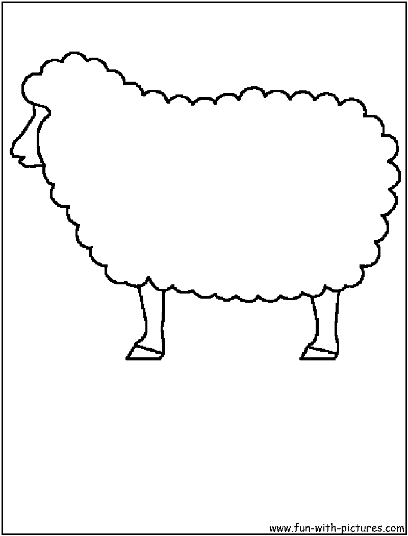 coloring picture of a sheep