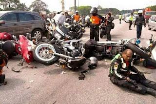Kecelakaan Moge Yang Melawan Arus