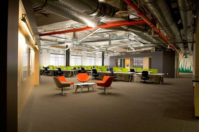 """Skype's primary goal was to create a world-class office that would differentiate them from their Bay Area competitors in the recruitment of talent. The project entailed a tenant improvement of 54,000 square feet of existing office space to support 250 employees involved in high technology development."