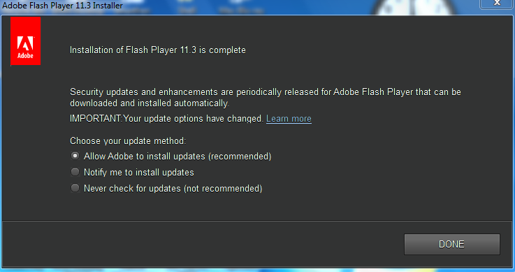 Flash player 2012