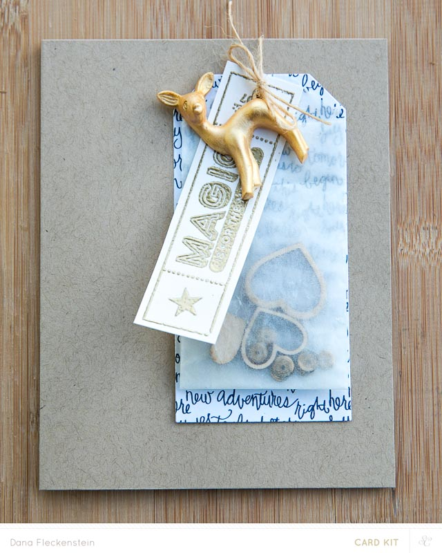 Magic is for the Making | Handmade Christmas Card with Deer Charm by @pixnglue