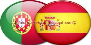 Hasil Portugal vs Spanyol | Skor Akhir | Semi Final Euro Kamis 28 Juni 2012