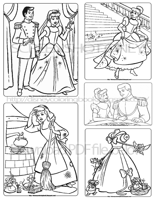 cinderella coloring pages and turn her into a beautiful