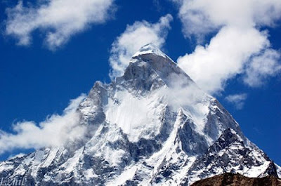 Beautiful Mountain Machapuchare, North Central Nepal