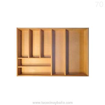 cubertero madera cajon cocina