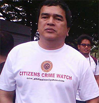 Citizens Crime Watch Secretary and former Camarines Sur Board Member General Carlo Batalla