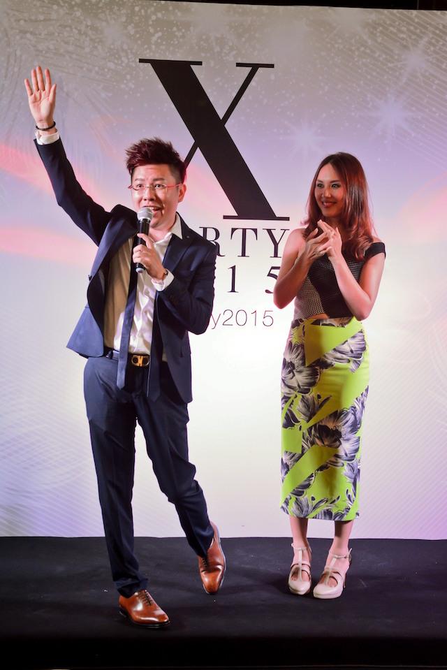 Xavier Mah, founder of Xavier Mah Consultancy & XALF and emcee Julie Woon