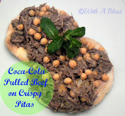 With A Blast: Coca-Cola Pulled Beef on Crispy Pitas - delicious!    #dinner  #beefrecipe