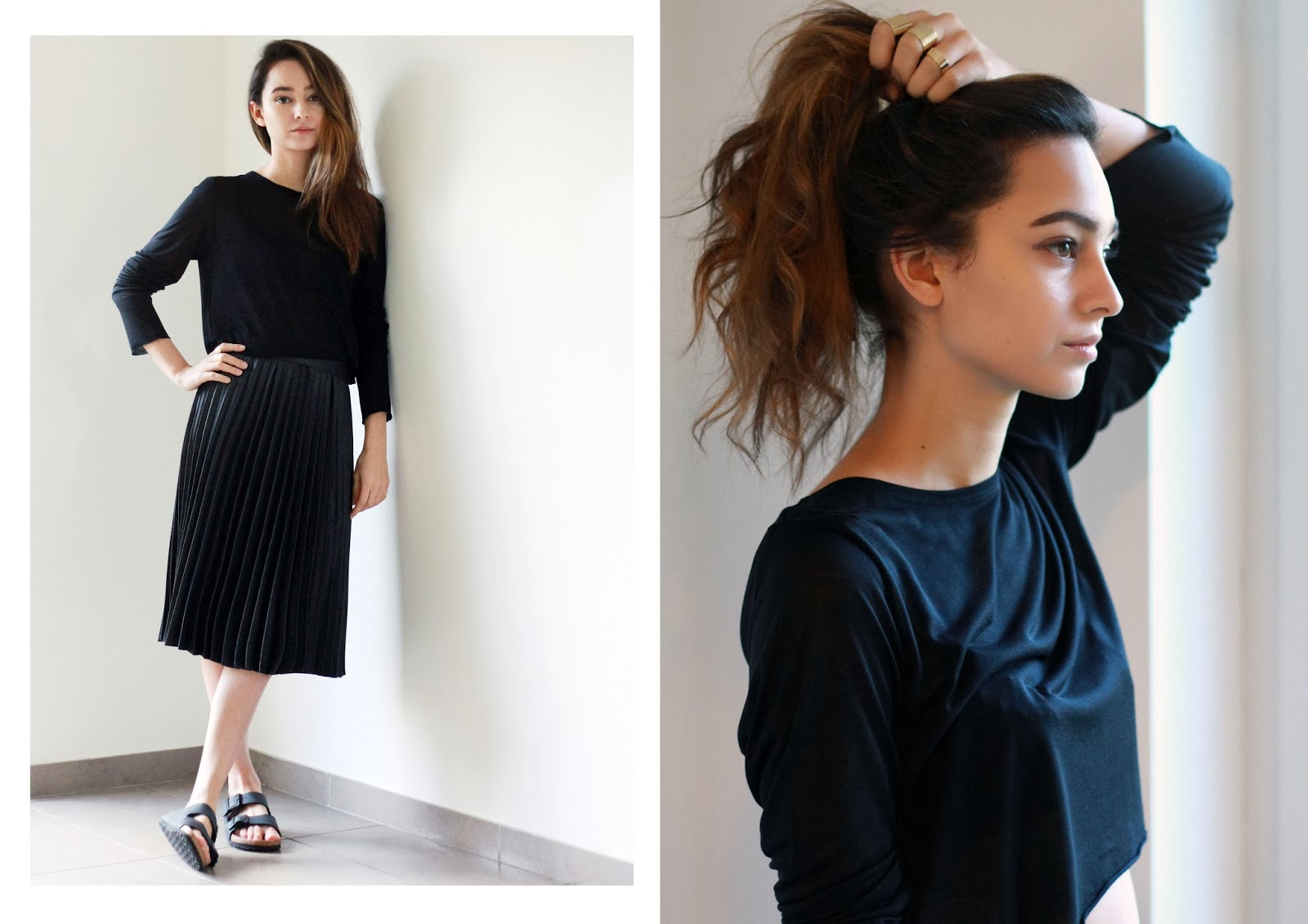I'M WEARING ZARA PLEATED MIDI SKIRT