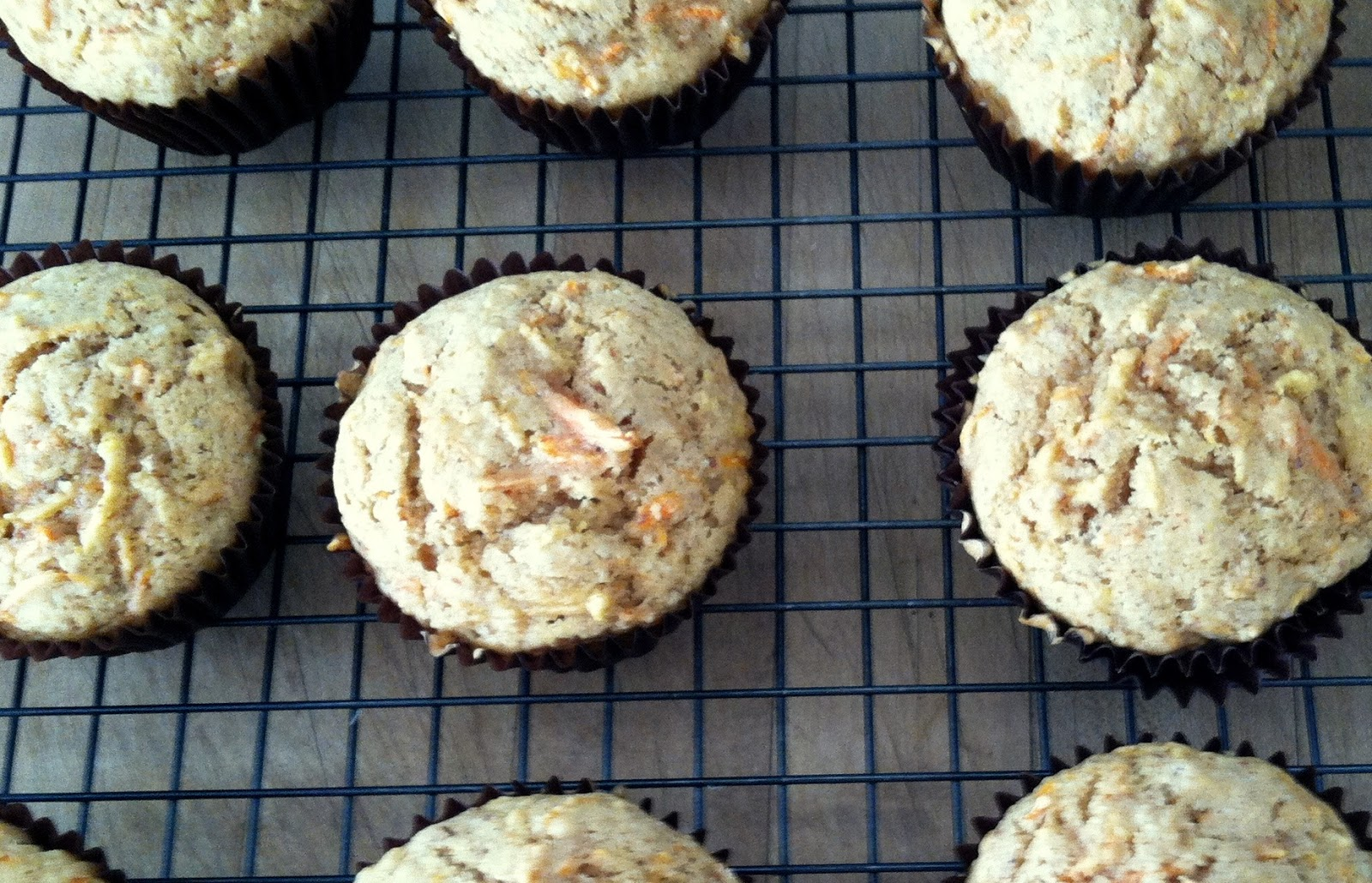 bash!: brown butter, apple and carrot muffins