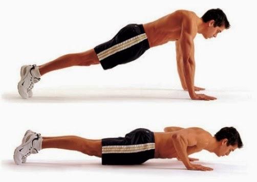 latihan push up untuk melatih kekuatan dalam badminton