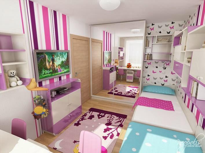 desain kamar tidur anak dengan ruang belajar yang