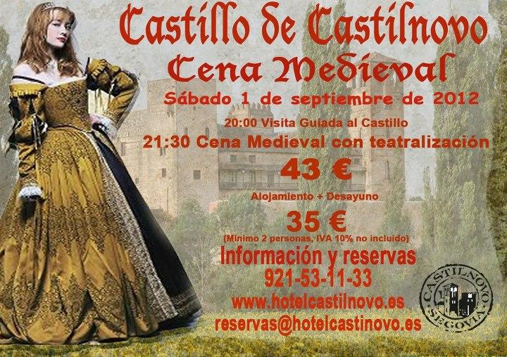 cena castillo medieval: