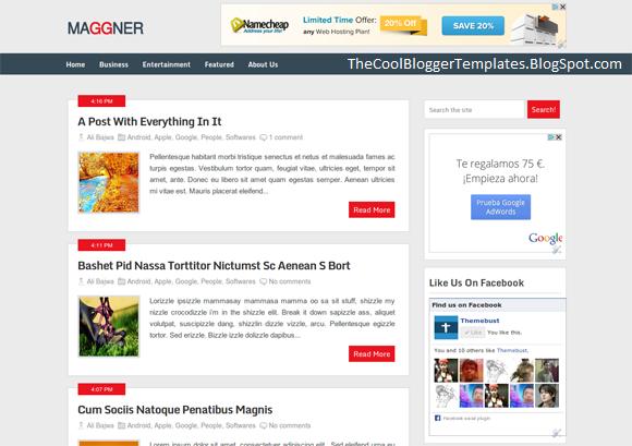 Maggner Magazine Blogger Template | World News