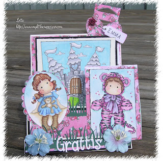 Happy birthday card with Magnolia stamp