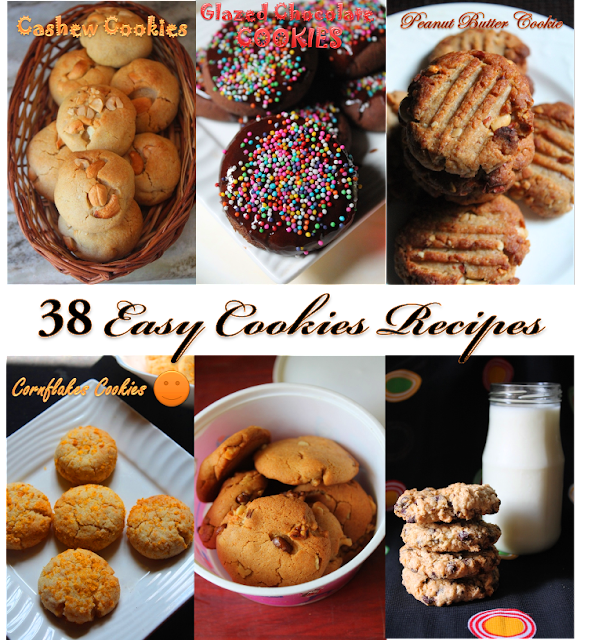 38 Easy Cookies Recipes – Eggless Cookies & Biscuit Recipes