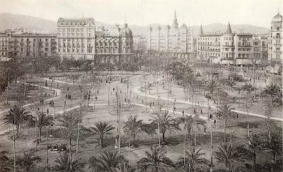 La Plaza de Cataluña a principios de 1900