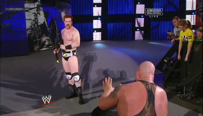 Sheamus about to hit big show with a chair