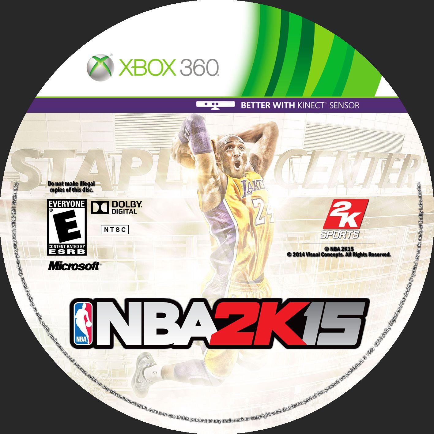 Label NBA 2K 15 Xbox 360