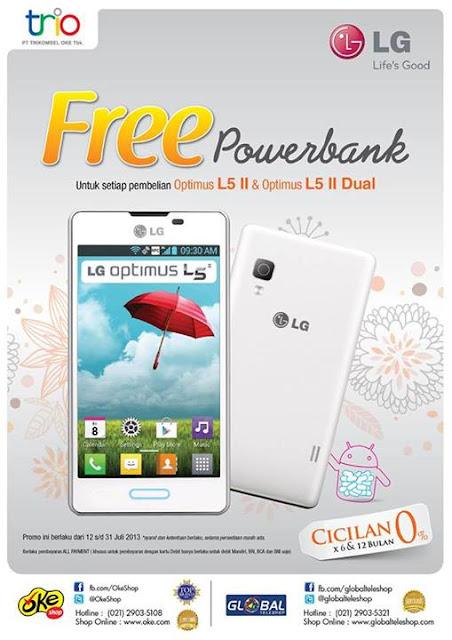 Promo OkeShop dan Global Teleshop Terbaru Beli LG Free Powerbank