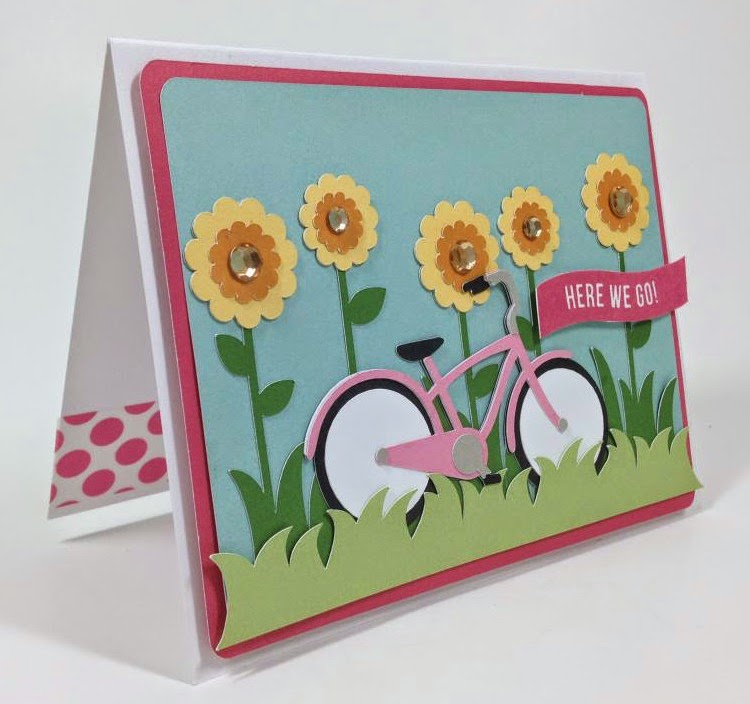 Cricut Bicycle card sideview