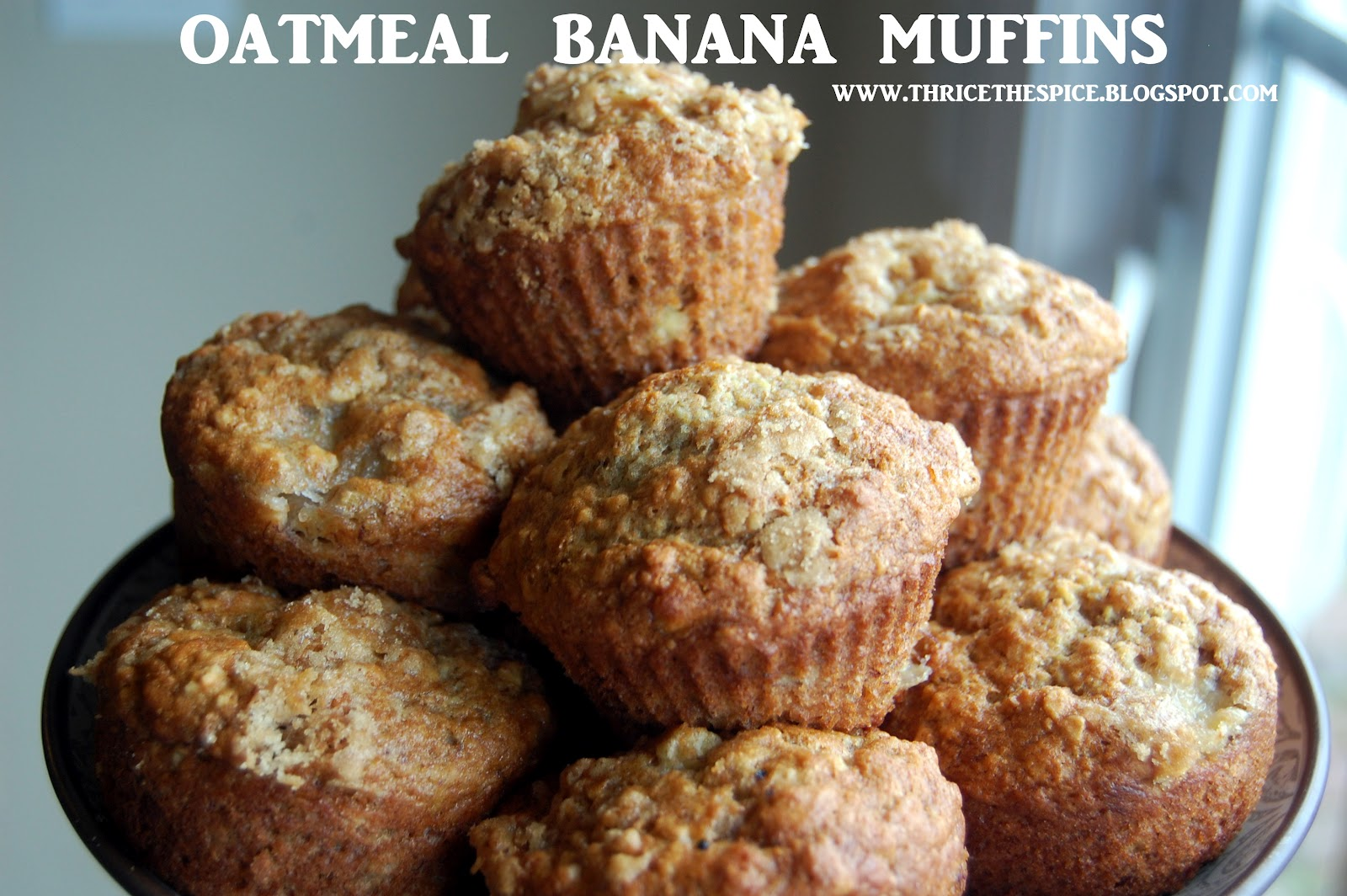 banana oatmeal muffins healthy