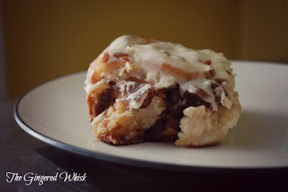 The Gingered Whisk: Caramelized Apple Walnut Cinnamon Rolls with Brown ...