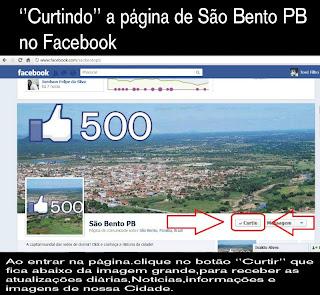 Pagina de São Bento No Facebook
