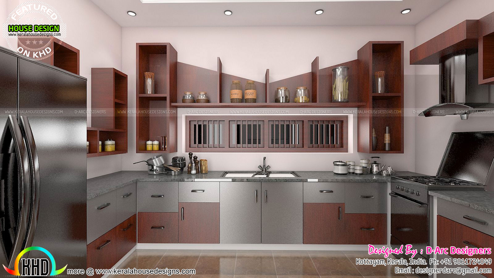 2016 modern interiors design trends kerala home design for Kitchen design kerala
