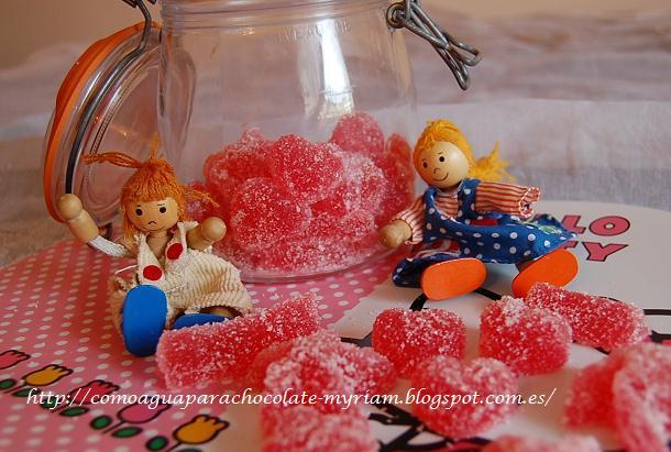 Dulces de goma-de-fresa