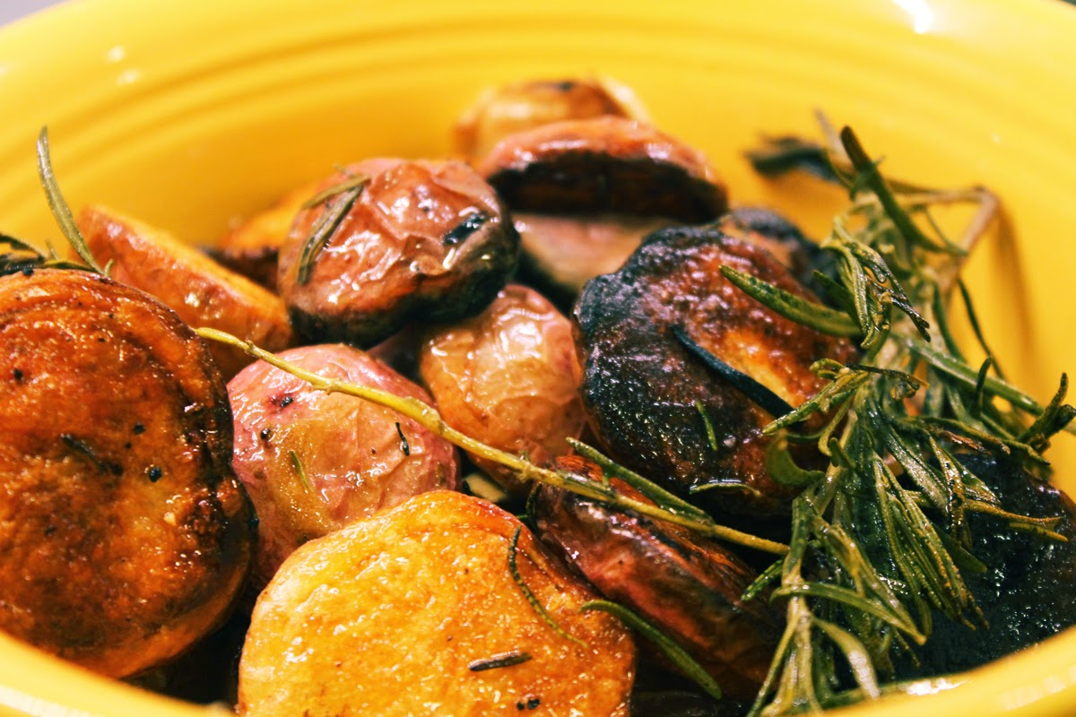 ty's kitchen: Cornish Hens with Duck Fat Potatoes and Herb ...