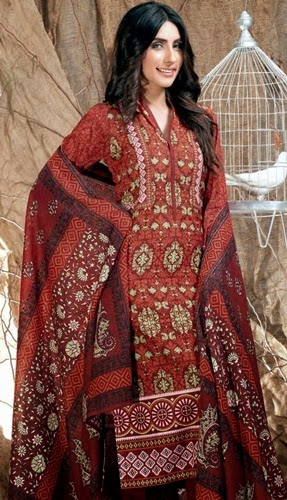 Gul Ahmed winter Linen 2014-2015