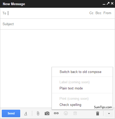 Disable Gmail's New Pop Up Compose Mail Window