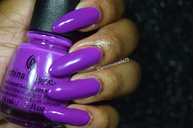 "China Glaze Electric Nights ""Violet-Vibes"" Swatch"