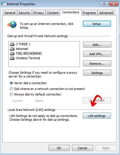 2-ada tulisan tidak dapat tersambung ke server proxy